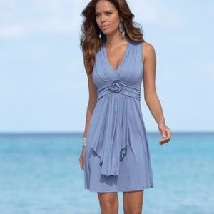 Rosette Detail Dress Boston Proper